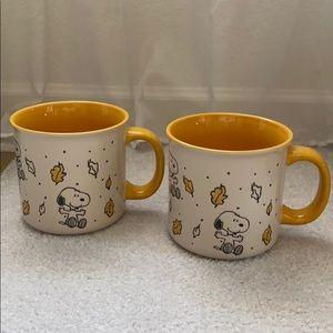 Peanuts snoopy fall mug set